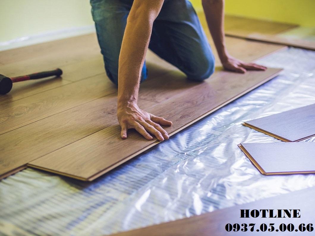 thi công sàn gỗ chung cư