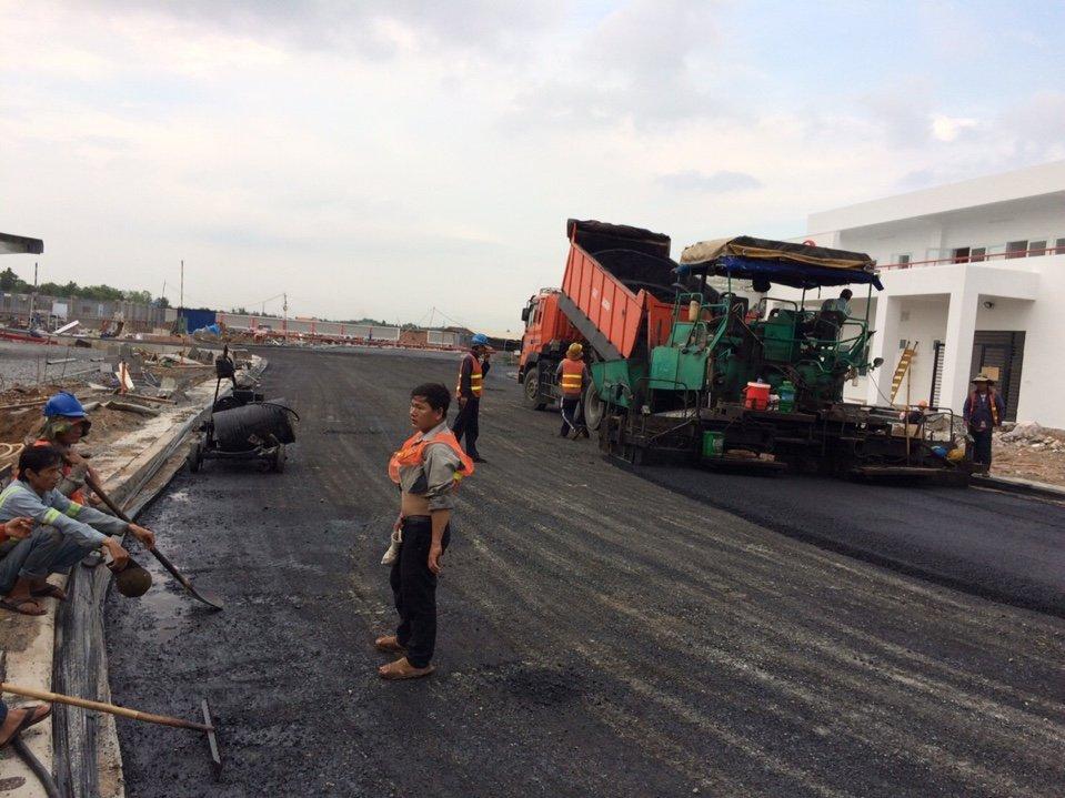 thi công thảm bê tông nhựa nóng tại long an